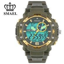 SMAEL Sport Montres Hommes S Choc LED Numérique Militaire Montres G Style 50 m Montre-Bracelet Étanche montre homme Hommes Cadeau WS1379