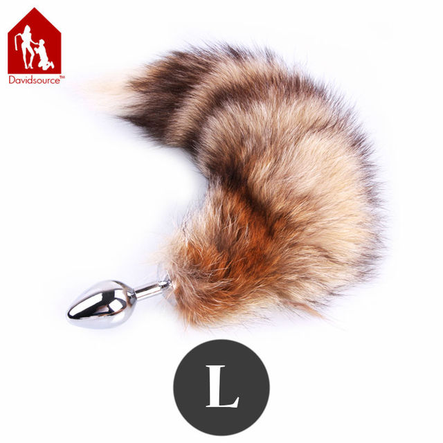 Davidsource 91mm Metal Butt Plug With Fox Tail For Anal Sex Receive Flirty Naughty Sex Toy Sex Product