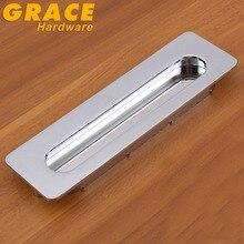 Главная шлицевая ящика темно-ручка невидимый кабинет ручки мебельная фурнитура ( cc : 128 мм, L : 176 мм )