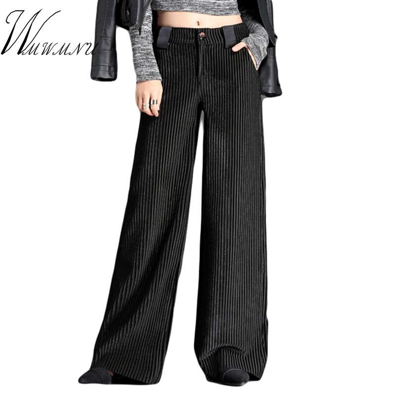 Hot Sale Velet Pants Women's Trousers With High Waist Female Loose Large Size Women Pant 2018 Big Size Women's Pleuche Trousers
