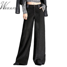 Hot Sale Velet Pants Women's Trousers With High Waist Female