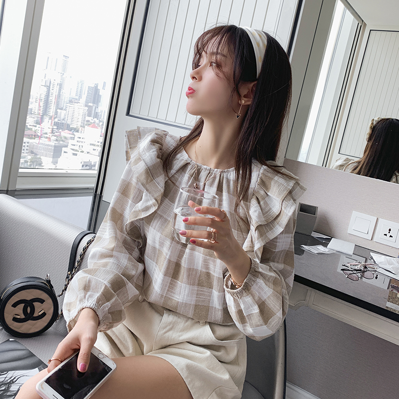 Mishow 2019 Ladies Harajuku Plaid Lengthy Sleeve Shirts Informal Woman Shirt Tops Korean Cute Ladies Clothes MX19A4914 Blouses & Shirts, Low-cost Blouses & Shirts, Mishow 2019 Ladies Harajuku Plaid...