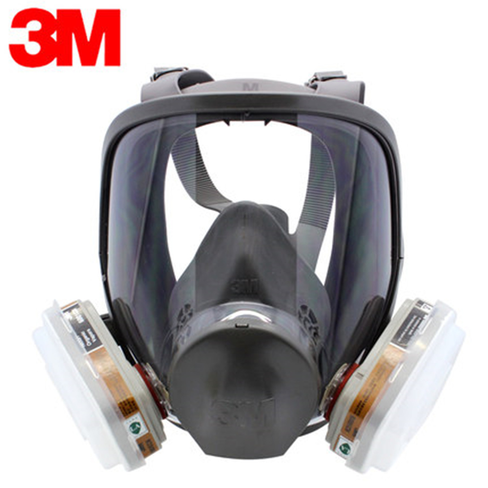 Genuine 3M6800 Full Facepiece Gas Mask Respirator Reusable Filter Protection Mask Anti Organic Vapor Pesticide Spray Tool Set 3m 7501 6005 half facepiece reusable respirator mask formaldehyde organic vapor cartridge 7 items for 1 set xk001