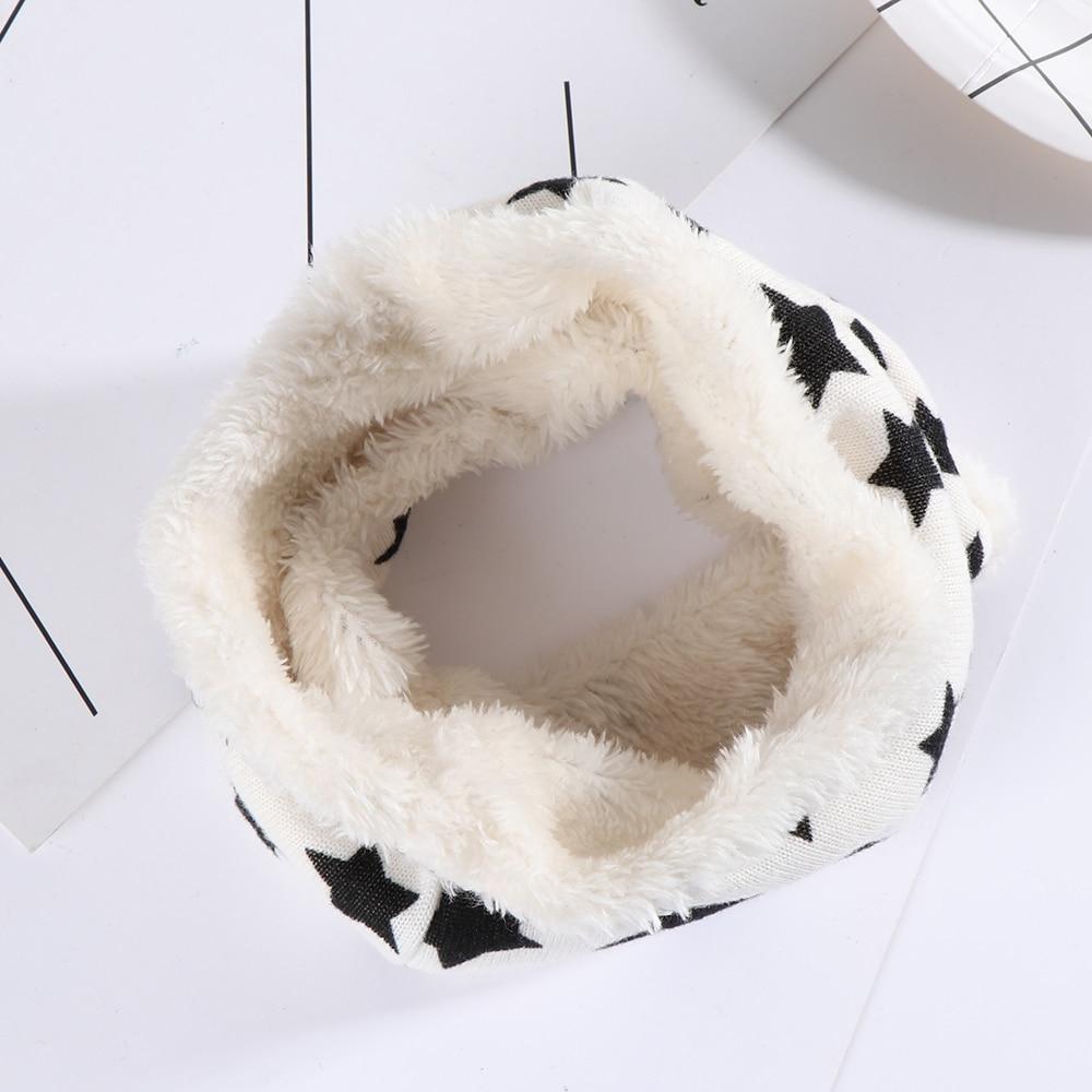 Новинка года; сезон осень-зима; Детский шарф с принтом «пять звезд»; Детский шарф для мальчиков и девочек; хлопковые детские шарфы в горошек с кольцом