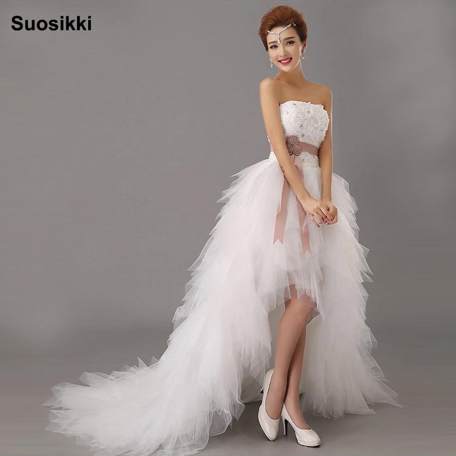 d83601e28cc Suosikki 2016 New Arrival White Bridal Wedding Dress Wedding Gown  Sweetheart wedding irregular short in front