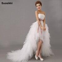 2014 Latest White Bridal Wedding Dress Wedding Gown Sweetheart Wedding Irregular Short In Front Long