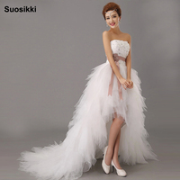 2014 Latest White Bridal Wedding Dress Wedding Gown Sweetheart Wedding Irregular Short In Front Long