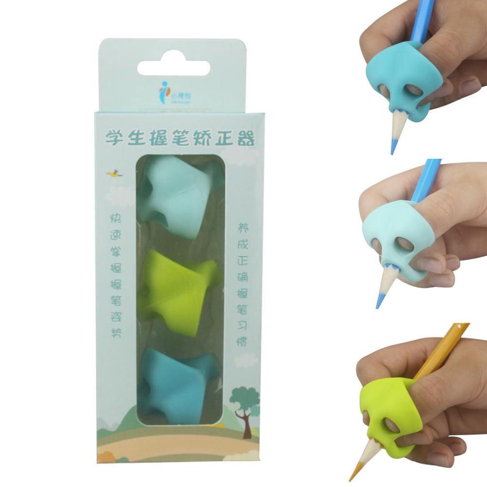3PCS/Set Children Pencil Holder Pen Writing Aid Grip Posture Correction Tool New Pencil Topper Children Writing Aid Grip Pencil
