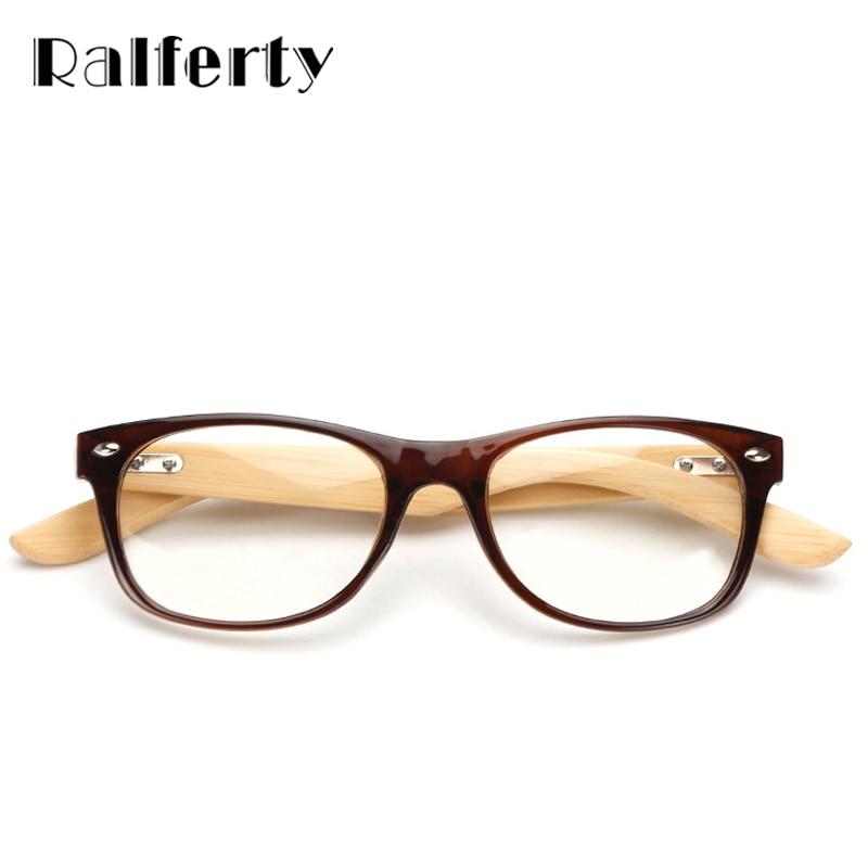 Ralferty Small Gold Wood Glasses Frames Bamboo Eyeglass Optical ...