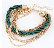 Min. order $10(Mix order) 2014 Fashion hot sale Charm Chain Gold Bracelets Jewelry,jewelry for women