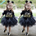 2016 New Baby Toddler Kids Girl Lovely Half Sleeve Princess Party Pagent Tutu Dress Skirt Outfit Girl Children's Clothes