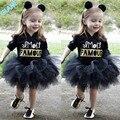 2016 Nuevos Del Niño Del Bebé Niños de La Muchacha Encantadora Princesa de la Media Manga Party Pagent Tutu Dress Skirt Outfit Chica de Ropa Para Niños