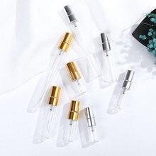 50 adet 2ml 3ml 5ml 10ml Parfüm Verstuiver Seyahat Sprey Şişesi Parfüm Için Taşınabilir Boş Kozmetik konteynerler için Alüminyum Pompa Ile
