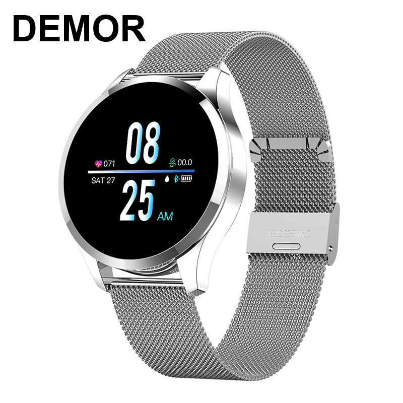 DEMOR Q9 Smart Watch Connected Heart Rate Blood Pressure Monitor Bluetooth Smartwatch for iOS iPhone Huawei
