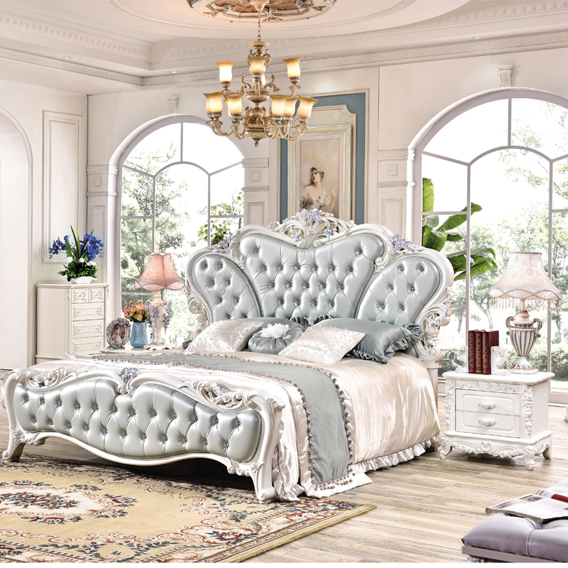 Cheap Furniture Classic Style Bedroom Bed-in Bedroom Sets
