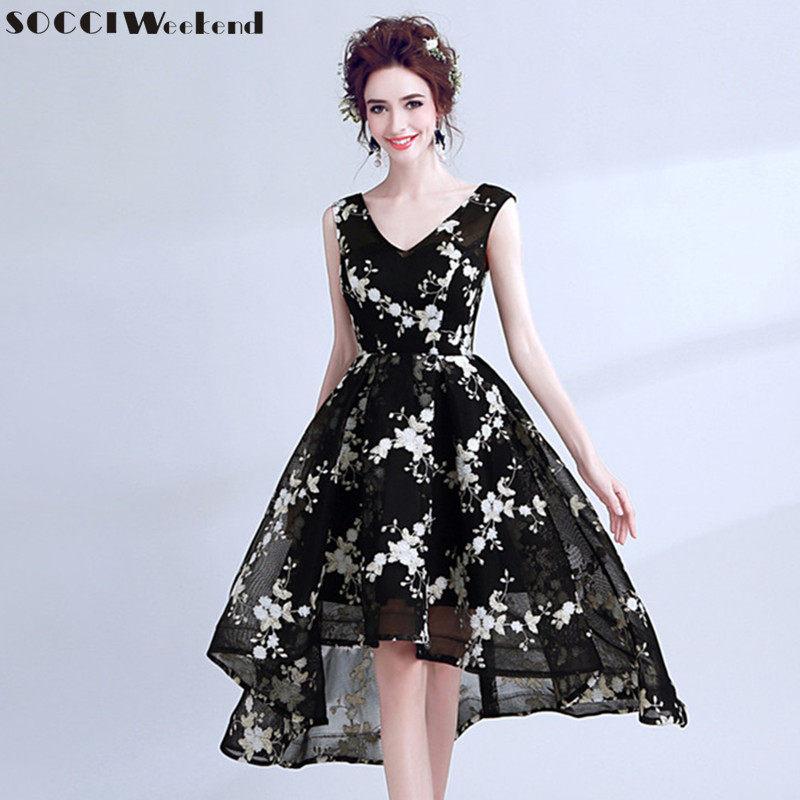 SOCCI Weekend Little Black Dress 2018 Evening Dresses Elegant Women Sexy V  Neck Sleeveless Formal Wedding c4934fb4fc1a