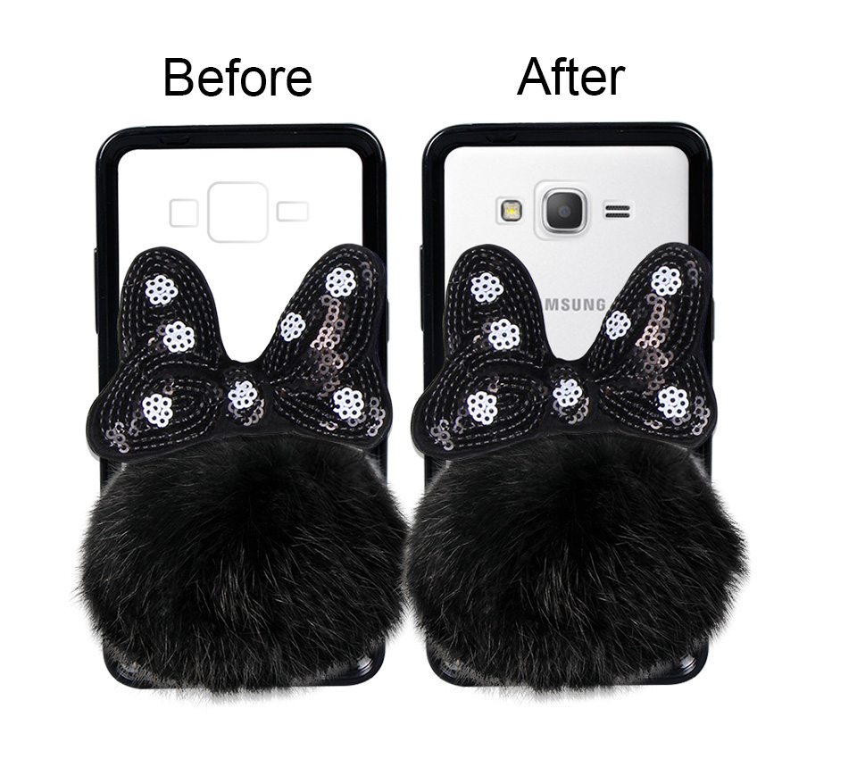 Fitted Cases Cellphones & Telecommunications Tenenele Case For Samsung Galaxy J7 Prime On7 2016 Case Cute Fur Furry Ball Rabbit Cover Soft Silicone Cases Galaxy J7prime Case