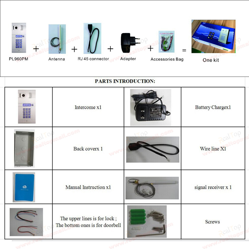 3G 4G WiFi IP intercom system two way intercom and remotely unlock door global video door phone in Video Intercom from Security Protection