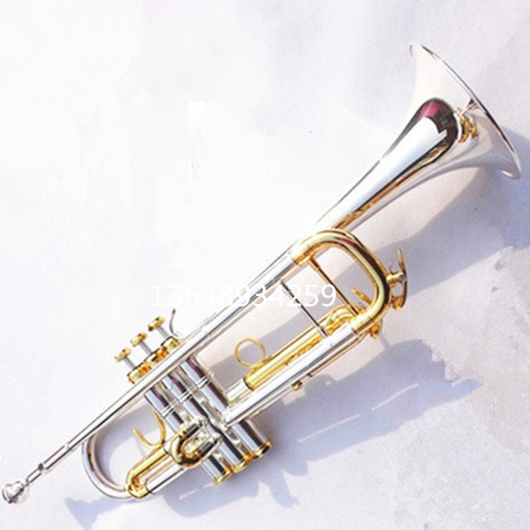 DHLUPS FREE Bach LT180S-72 Bb Trumpet Instruments Surface Golden Silver Plated Brass Bb Trompeta Professional Musical Instrument костюм утепленный umbro umbro um463embvb03