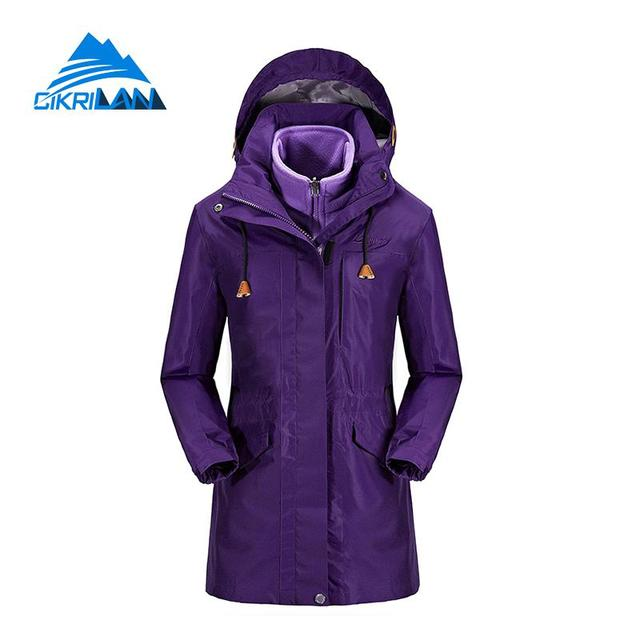 2671c5efc Ladies Winter Hiking Camping Long Coat Snowboard Ski Windstopper Waterproof  Outdoor Jacket Women Fleece Liner Chaquetas