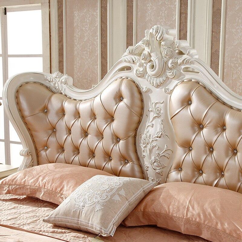 180 cm de lujo de madera con marco de resina flores carve rey cama ...