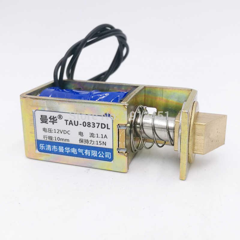 JF-S0837DL 12VDC 1A 10m 15N Open Frame Solenoid Electromagnet Door Lock