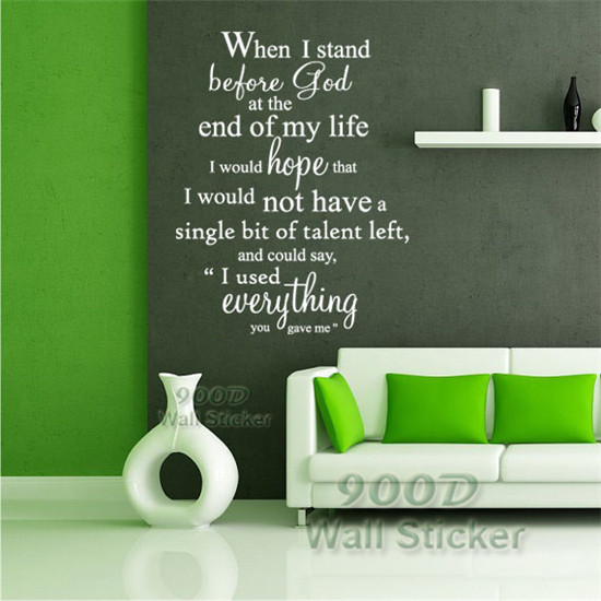 Inspiration Quote Wall Stickers, DIY  Home Decoration Wall Art Decor Wall Decal , DQ2014431