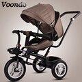 Детские тележки детские велосипед детский трехколесный велосипед вращающийся сиденье с ручной толчок складные велосипед ребенка 1-3- 5 вело...