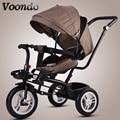 Carrito de bebé bicicleta de bebé niños triciclo asiento giratorio con empuje de mano bicicleta plegable bicicleta de bebé Niño 1-3- 5