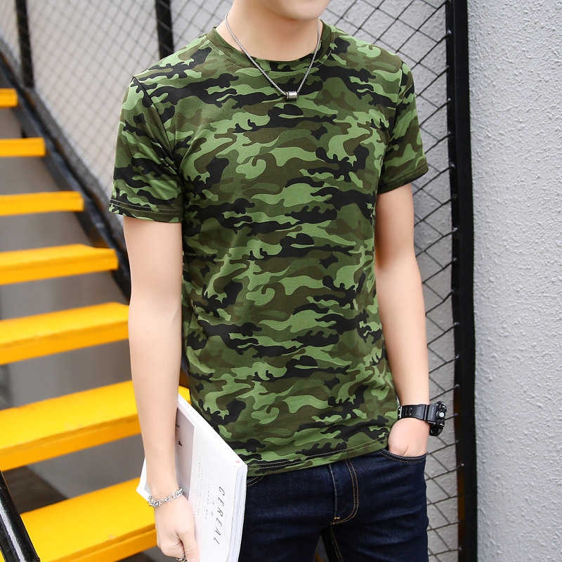 Top Tees for Men Camouflage T Shirt Men Fashion Short Sleeve Cotton T Shirt Male Jogge T ...
