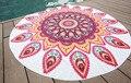Mandala Tapeçaria Chiffon Toalha de Praia Rodada Moda Impressão Circular Guardanapo Toalhas de Praia em Microfibra Grande Rond De Plage