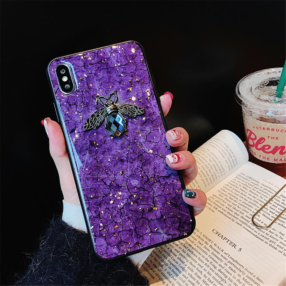 luxury diamond bee with wind case for huawei p20 pro nova 3i 2 2s Crack marble case funda for huawei mate 20 pro honor 10 v10  (9)
