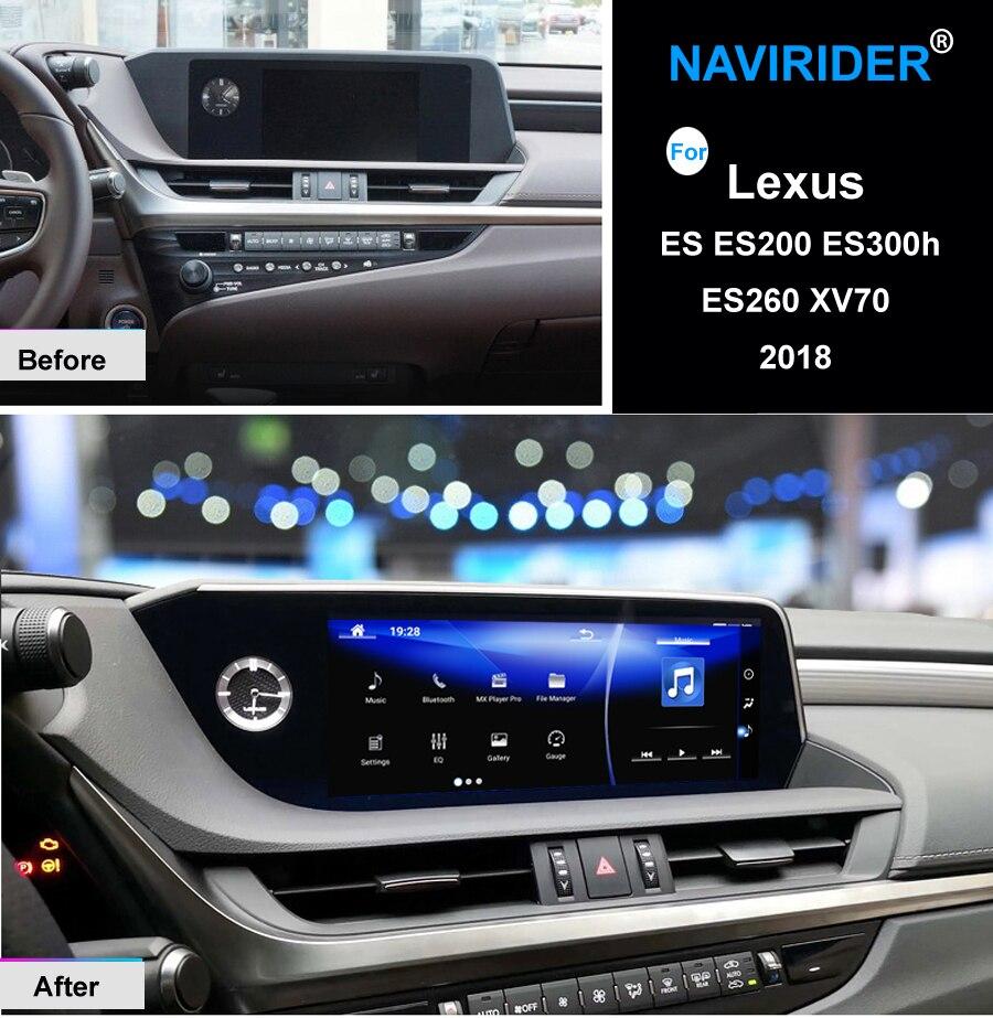 NAVIRIDER Android 7.1 Car multimedia GPS Stereo Radio Audio Per Lexus ES ES200 ES300h ES260 XV70 2018 Stile Originale di Navigazione