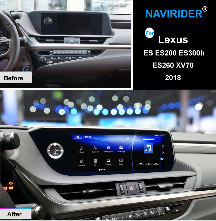 NAVIRIDER Android 7,1 coche multimedia GPS Radio de Audio estéreo para Lexus ES ES200 ES300h ES260 XV70 2018 Original estilo de navegación