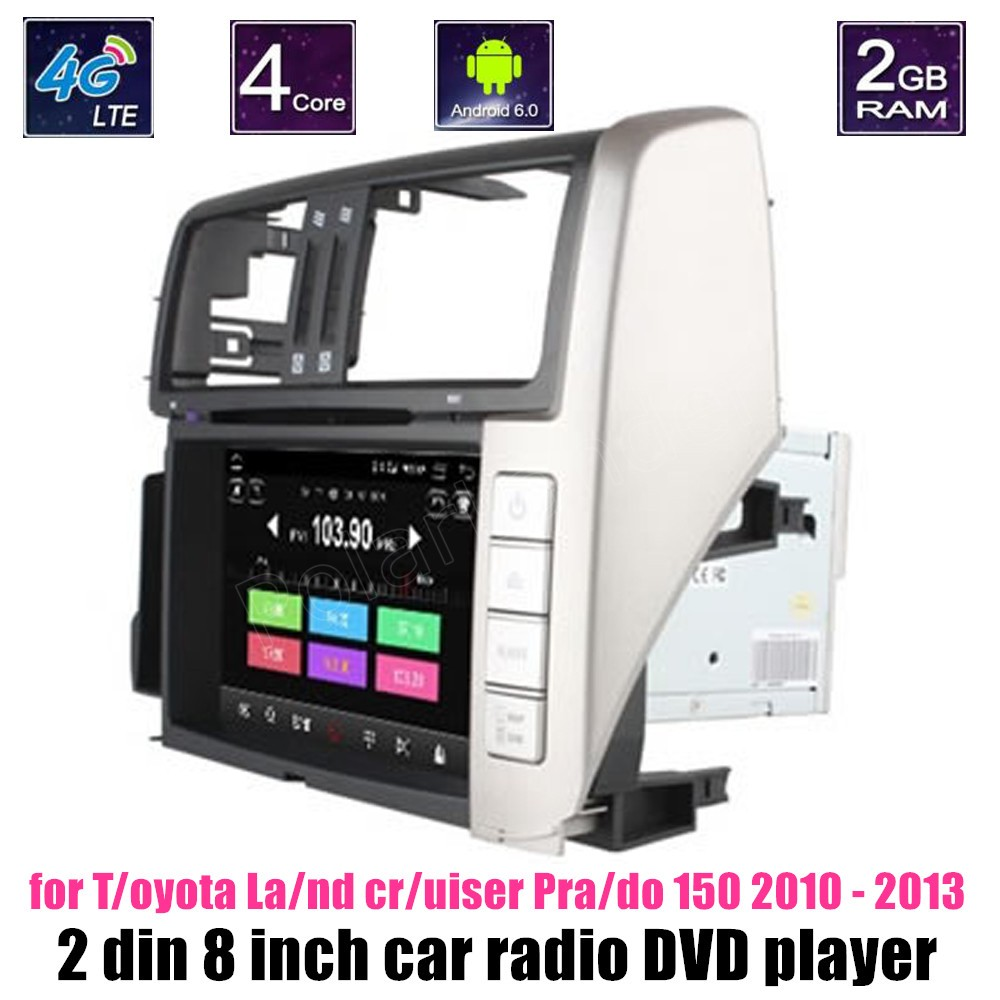 8 inch 2 din Quad Core 1024 600 Android 6 0 Car DVD font b GPS