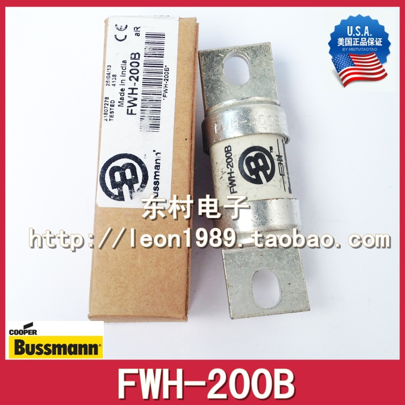US imports Bussmann Fuses FWH-200A fuse FWH-200B 500V 200KA direct selling rw7 10 200a outdoor high voltage 10kv drop type fuse
