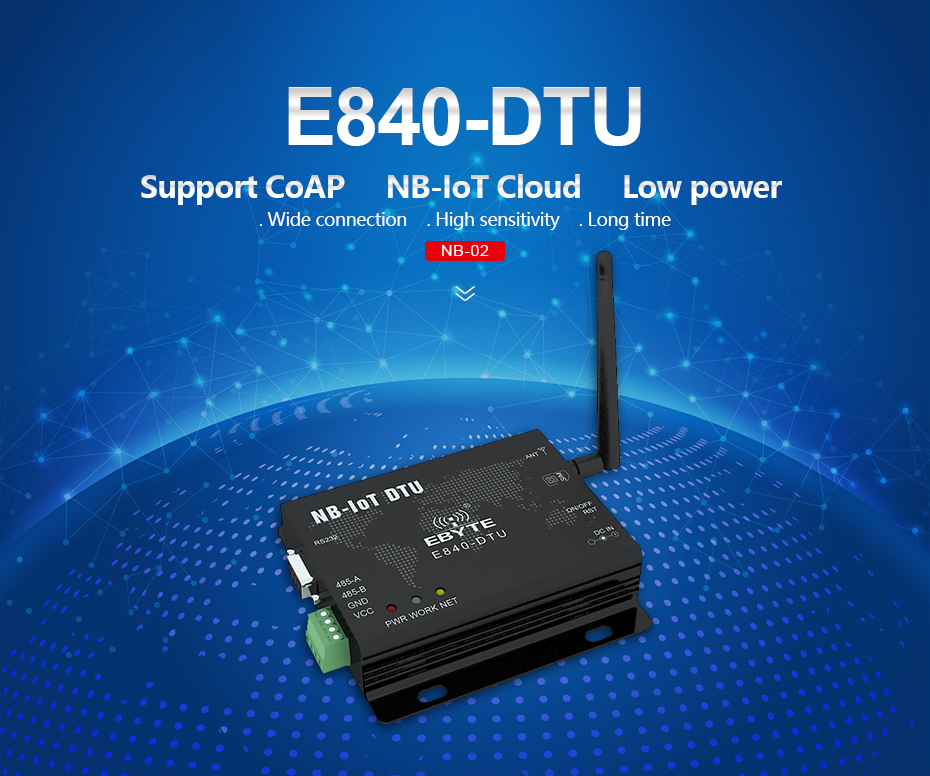 E840-DTU(NB-02) NB-IoT RS485 RF Transceivers (8)