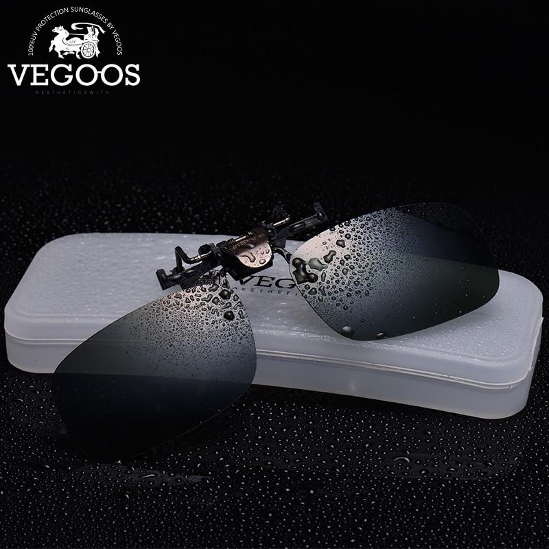 VEGOOS Polarized Clip on Sunglasses for Men Women UV400 Protection Square Flip up Sunglasses Over Prescription