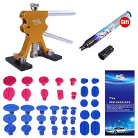 PDR Tools PDR Puller Paintless Auto Body Dent Remover Glue Hand Lifter With 38 Dent Tabs Scratch Pen Car Paint Dent Repair Tool