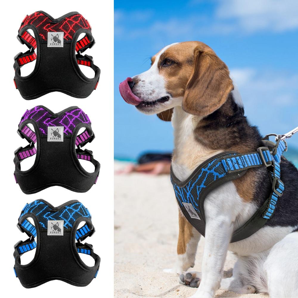 Arnés de perro reflectante deportivo sin tirón para perros medianos grandes Pitbull Bulldog entrenamiento de perros al aire libre arnés de seguridad
