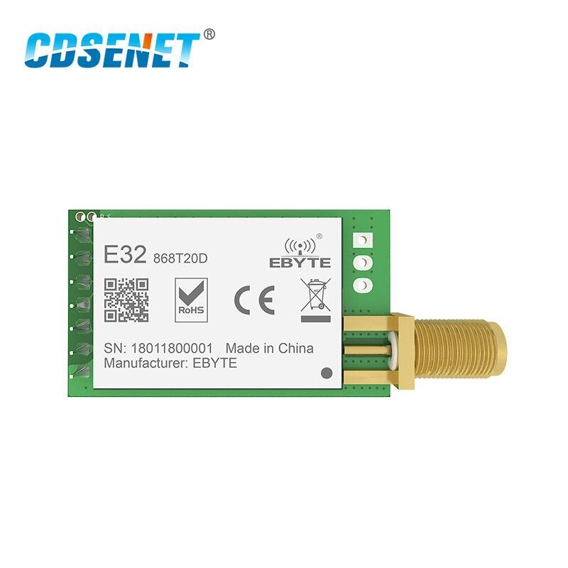 868 MHz SX1276 LoRa 100mW puerto Serial transceptor inalámbrico E32-868T20D 868 MHz módulo IoT Transmisor RF receptor SMA conector