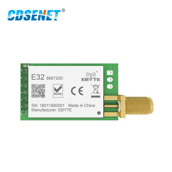 868MHz SX1276 LoRa 100mW Serial Port Wireless Transceiver E32-868T20D 868 MHz IoT Module RF Transmitter Receiver SMA Connector 868mhz si4463 long range 100mw transceiver rf module cdsenet e53 ttl 100 868m uart serial port wireless module