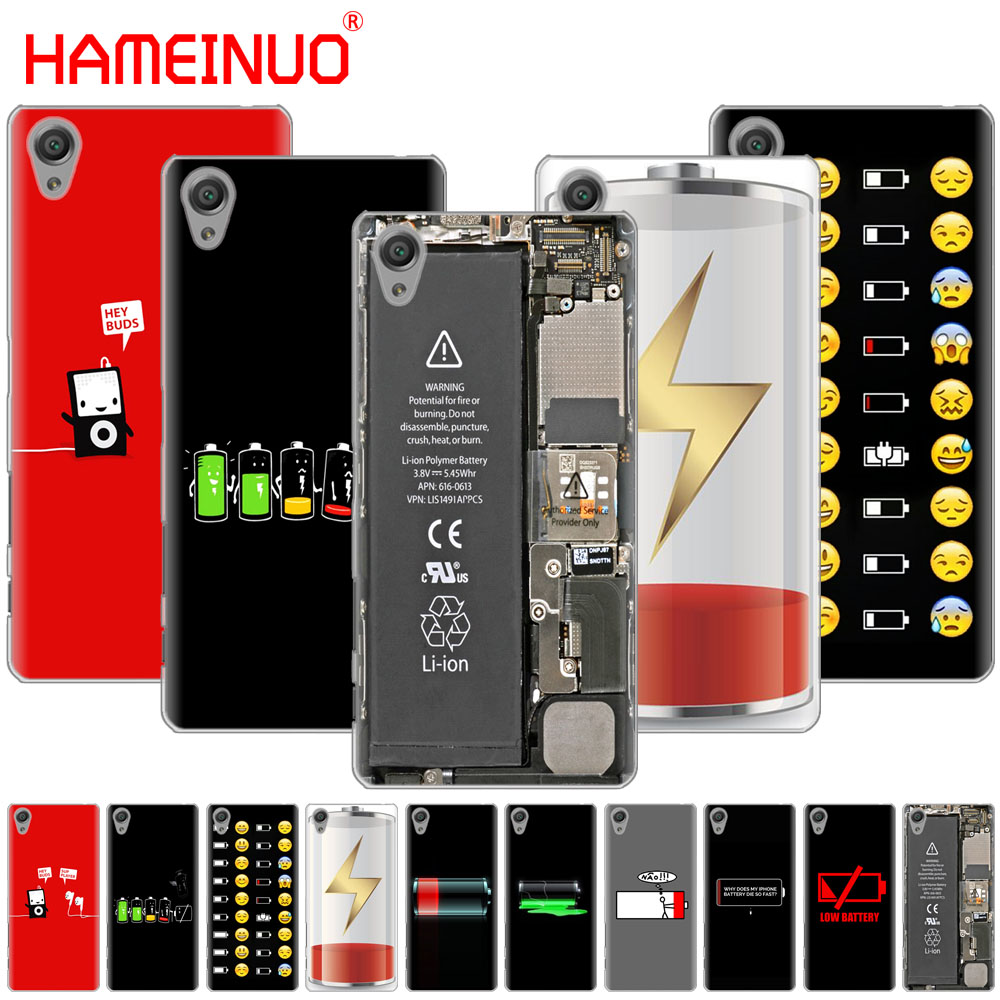 HAMEINUO <font><b>Battery</b></font> Life Cycle Funny Clear phone <font><b>Case</b></font> for <font><b>sony</b></font> <font><b>xperia</b></font> C6 XA1 XA2 <font><b>XA</b></font> ULTRA X XP L1 L2 X XZ1 compact XR/XZ PREMIUM image