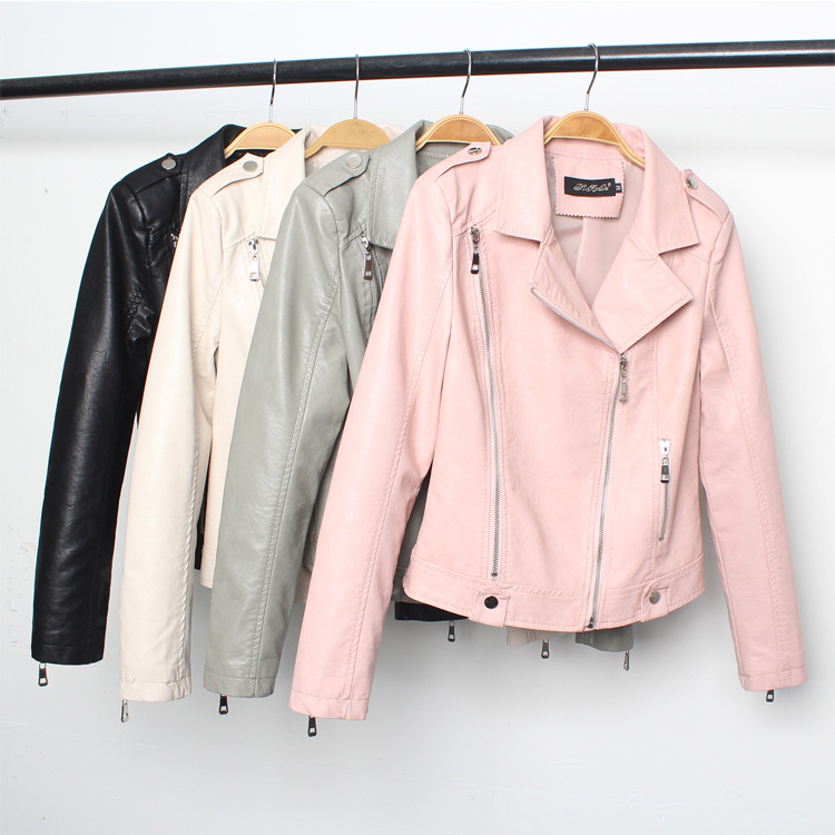 2019 Faux   Leather   jacket Women Lapel Zipper Casual Jacket Female Short Jacket Coat Plus Size 3XL Winter Motorcycle Outwear