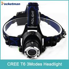 LED Headlight CREE T6 led headlamp zoom 18650 Head lights head lamp 2000lm XML-T6 zoomable lampe frontale LED flashlight ZK80
