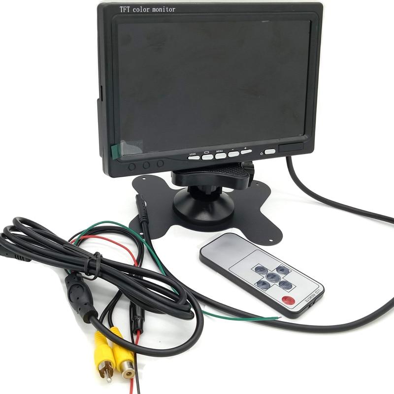 Konnwei 7 дюймов Цвет TFT ЖК-дисплей автомобиля Парковочные системы Мониторы S DC 12 В складной автомобиль Мониторы