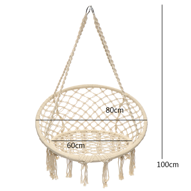 Nordic Style Mesh Hammock Outdoor Indoor Rural Hammock Chair For Dormitory Bedroom White Hammock Chair Safety Swing Hanging