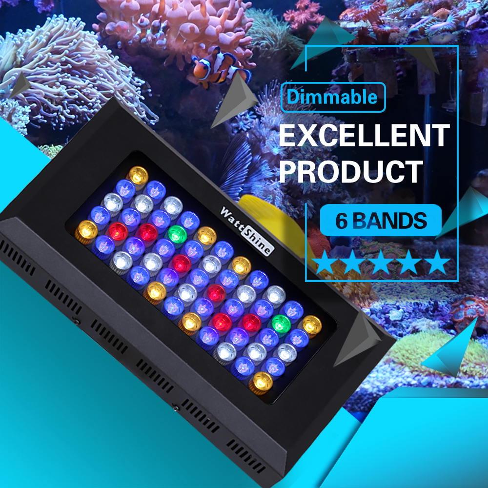 Top rated 165W LED Grow Lights decoration Marine aquarium Full spectrum led grow Hydroponics led Greenhouse Coral raising