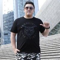 Men T shirt plus size black 2019 new summer tiger casual male t shirt thin cotton street style large size 5XL 6XL 7XL 8XL