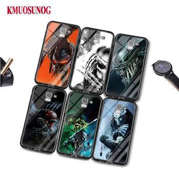 Negro funda de silicona Alien vs depredador para Samsung Galaxy j8 j7 j6 j5 j4 j3 Plus primer 2018 de 2017 de 2016 funda de bolsa de teléfono